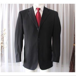 Hugo Boss Luxury Wool Black Blazer Jacket 38R